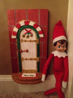 Tooth fairy and elf on the shelf doors for Tooth fairy door ideas